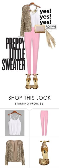 """""""ROMWE ♥"""" by littlemisskarlee ❤ liked on Polyvore featuring Valentino, Tart, Dolce&Gabbana and The Volon"""