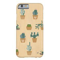 Succulent IPhone 6 Case Cactus pattern wood