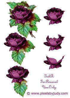 3D paarse bloem