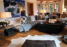 Luxury and cozy living room in one of Austrias most popular winter getaways Kitzbühel. Winter Getaways, Cozy Living Rooms, Luxury Living, Luxury Real Estate, Austria, Skiing, Popular, Bed, Furniture