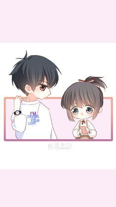 Love Never Fails Manga Cute Chibi Couple, Love Cartoon Couple, Anime Love Couple, Cute Anime Couples, Cute Cartoon Drawings, Anime Couples Drawings, Cute Kawaii Drawings, Kawaii Chibi, Anime Chibi