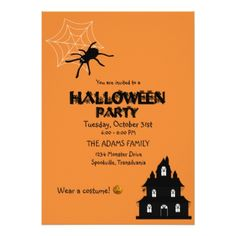 Kids Halloween Party Invitation - rsvp gifts card cards diy unique special