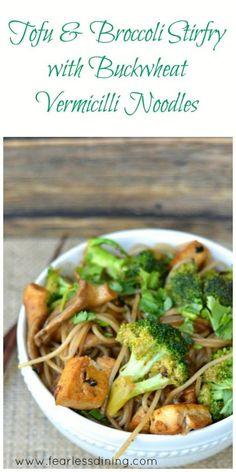 Tofu and Broccoli Buckwheat Vermicilli Noodles Collage: http://www.fearlessdining.com/2014/07/07/buckwheat-vermicilli-stirfry-tofu/