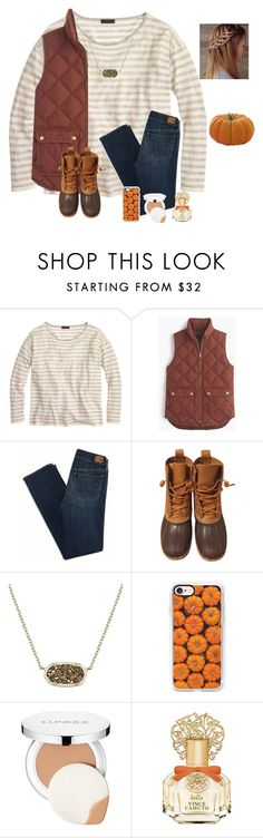 """Day 2: Pumpkin patch⚜️"" by raquate1232 ❤ liked on Polyvore featuring J.Crew, American Eagle Outfitters, L.L.Bean, Kendra Scott, Casetify, Clinique, Vince Camuto and kennshalloweencontest"