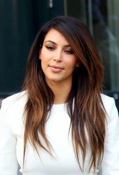 Kim Kardashian Ombre Hair
