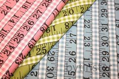 measuring tape fabric!! love the blue and pink!