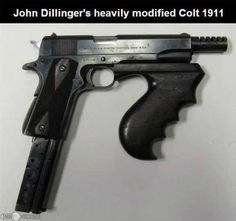 FB The Vintage News · John Dillinger's 1911 converted to full auto and .38…