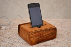 Wooden iPhone Station iPhone Charging Station by WoodRestart