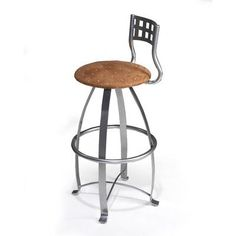 "Createch Nite 30"" Swivel Bar Stool Upholstery: Impulse 3006, Metal Finish: Bronze"