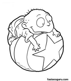 Rugrats Color Page Cartoon Characters Coloring Pages Color