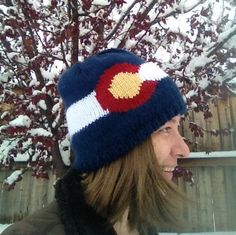 Knit Colorado Flag Hat Mountain Hat, Colorado, Winter Hats, Crochet Hats, Flag, Knitting, Trending Outfits, Unique Jewelry, Handmade Gifts