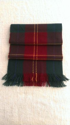 Vintage 80s scottish Plaid german made Woven Scarf by ENGARLAND on Etsy