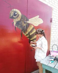 Bee, My Arts, Wall Art, Animals, Animales, Animaux, Bees, Animais, Animal