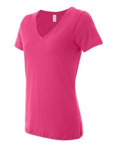 Anvil - Women's Featherweight V-Neck T-Shirt - 392
