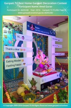 Amol Gurav Home Ganpati Picture 2016. View more pictures and videos of Ganpati Decoration at www.ganpati.tv