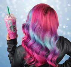 Cabelo de frappuccino de unicórnio é a nova tendência nas redes sociais