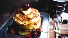 American Style Pancakes, Granola, French Toast, Oatmeal, Brunch, Cookies, Breakfast, Desserts, Food