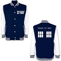 DW TARDIS Police Box Varsity Jacket - Absolutely yes.