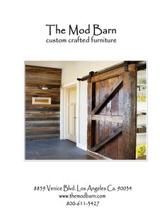 Sliding Barn Doors. Custom Designs Www.themodbarn.com The Mod Barn 8859  Venice