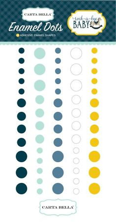 Rock-a-Bye Boy Enamel Dots by Carta Bella for Scrapbooks, Cards, & Crafting found at FotoBella.com