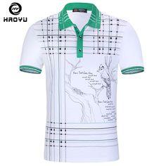 95a2cc8c3616 Hombres Polo camisa marca ropa tinta china pintura de alta calidad del  algodón de la manga