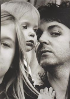 Heather, Stella and Paul photographed by Linda McCartney.