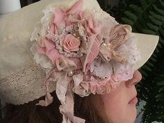 Pink Cream Ivory/ Shabby Vintage Fabric by DolledandDazzled