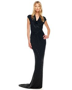 OMG - if only. $5995 is a bit steep though - B20CZ Michael Kors Beaded Twisted Gown