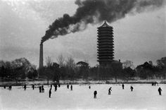 """© Marc Riboud, 1957, Beijing, China """"Well, heaven forgive him! and forgive us all!Some rise by sin, and some by virtue fall:Some run from brakes of ice, and answer none:And some condemned for a fault alone.""""― William Shakespeare, Measure for Measure  » find more of Magnum Photos here «"""