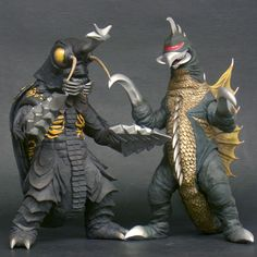 """Toho Large Monsters Series """"Gigan and Megalon"""" WF 2016 Limited Godzilla Figures, Godzilla Toys, All Godzilla Monsters, Scary Monsters, Japanese Monster, Shadow Dragon, Reptile Accessories, Monster Art, King Kong"""