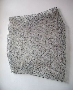 patternprints journal: WONDERFUL TEXTURES AND PATTERNS WITH THREAD AND VARIOUS MATERIAL INTO ARTWORKS BY MARIAN BIJLENGA Islamic Patterns, Ethnic Patterns, Japanese Patterns, Textile Patterns, Stylo 3d, Textiles, Creative Artwork, Free Machine Embroidery, Assemblage Art