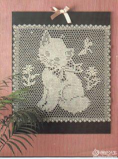 Kant breien gehaakte vierkantjes op de 12e kitten huis decoratieve patronen geweven _ _ hand geweven weave leven