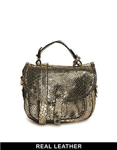 #bag #crossbody #small #snake #gold #leather