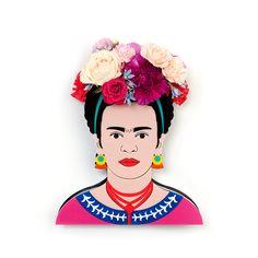 Frida Kahlo Flower Vase by Lovestar. Image of Iconic (no. 1) PRE-ORDER