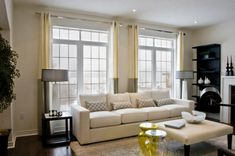 Or two french doors in winter.  Rearrange the furniture for summer.