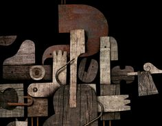 Wooden illustration