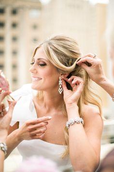 #earrings  Photography: Jana Williams Photography - jana-williams.com  Read More: http://www.stylemepretty.com/2014/10/20/blogger-bride-devon-rachel-wedding/