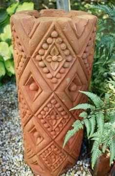 Terracotta garden art by KarlGercens Ceramic Clay, Glazed Ceramic, Ceramic Pottery, Clay Vase, Clay Pots, Play Clay, Pottery Techniques, The Potter's Wheel, Sgraffito
