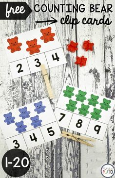 Awesome counting activity for preschool! Great for fine motor practice too. #preschool #preschoolmath