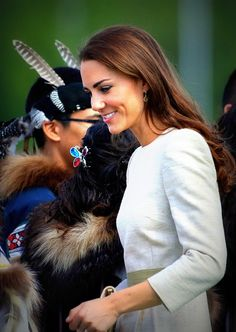 July 5, 2011: The Duke and Duchess of Cambridge on the sixth day of their tour of Canada. Prince William and Catherine are officially welcomed in Yellowknife.