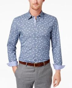 Con.Struct Men's Printed Shirt, Created for Macy's - Blue XXL