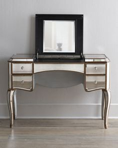 """Claudia"" Mirrored Vanity/Desk    $899.00"
