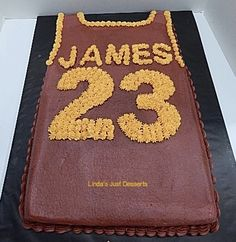 LeBron James Jersey Birthday Cake.