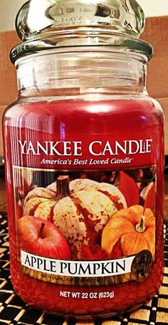 Apple Pumpkin Yankee Candle #YankeeCandle #MyRelaxingRituals  My house always smells amazing.