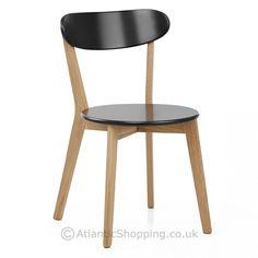 Rush Oak & Black Dining Chair