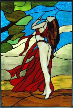 witrazy galeria | Witraże - Trejola Faux Stained Glass, Stained Glass Panels, Stained Glass Patterns, Leaded Glass, Cd Art, Garden Angels, Glass Design, Colored Glass, Female Art