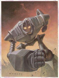 Brad Bird, The Iron Giant, Robot Illustration, Arte Robot, Childhood Movies, 90s Movies, Astro Boy, Movie Poster Art, Fan Art