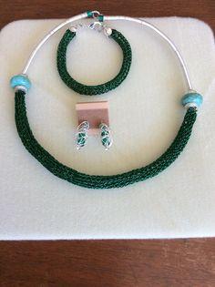 Necklace Earrings Bracelet by  KD's H'ART
