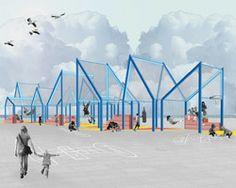 xarranca pavilion set to open in barcelona beachfront plaza
