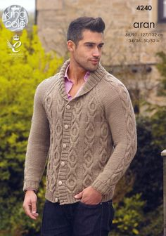 Buy the latest King Cole yarn online from Deramores. As we're one of the leading stockists of King Cole wool, we can supply you with all of your favourites. Sweater Jacket, Knit Cardigan, Men Sweater, Aran Knitting Patterns, Knitting Designs, King Cole, Dress Gloves, Man, Knitwear